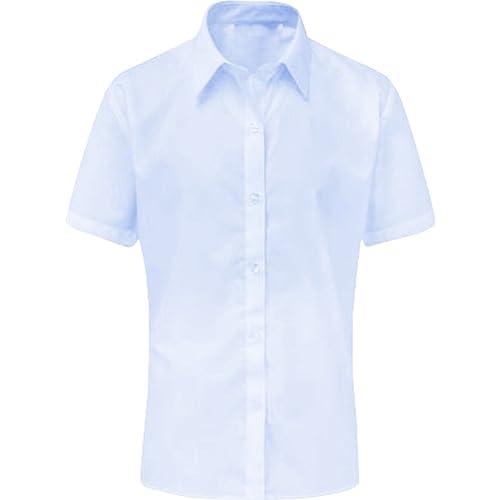 Ex M /& S Girls White Puff Sleeve School Blouse