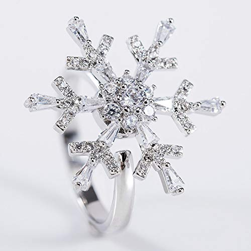 Buy Allywit Women Personality Diamond Snowflake Microinlaid Cut