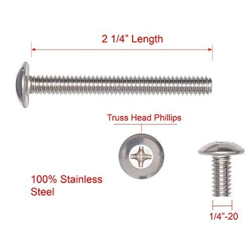 Pack of 10 Fastcom Supply Hex 18-8 Stainless Steel Small Parts FSC38114CBSS Round Square-Neck Carriage Bolt 3//8-16 Thread Size 1-1//4 Long 1-1//4 Long Pack of 10 3//8-16 Thread Size