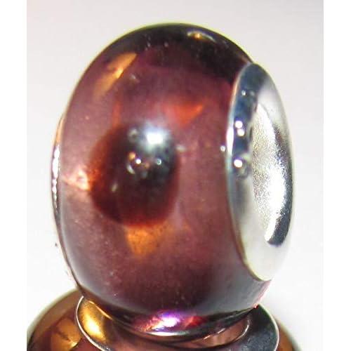 Purple Red Polka Dot Murano Glass Bead for Silver European Style Charm Bracelet Fashion Jewelry for Women Man