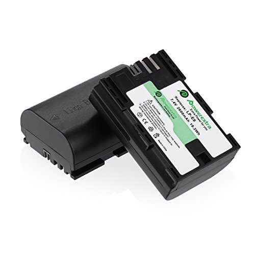 2X LP-E6 Battery Pack for Canon LP-E6 LP-E6N EOS 70D 7D 6D 5D MARK II III 2 3 UK