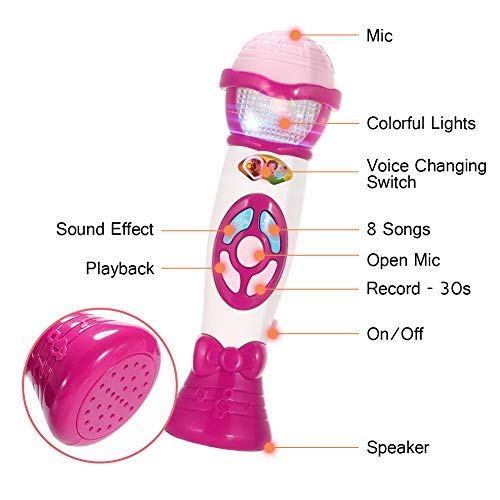 ThinkMax Music Microphone for Kids Voice Changing and Recording Microphone Toy
