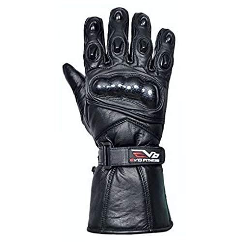 Large Evo New Leather Motorbike Motorcycle Bike Heavy Duty Waterproof Winter Thermal Carbon Shell Gloves