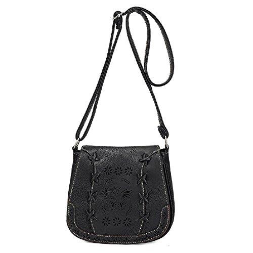 Urmiss Retro Mini Shoulder Messenger Bag PU Leather Crossbody Satchel Small Handbag