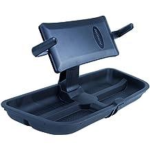 fits Jeep Wrangler JL 2018+ omotor Upper Dash Panel Storage Box with Holder for Large I Phone and I Phone Plus; Mini Pad; Cradle; Black