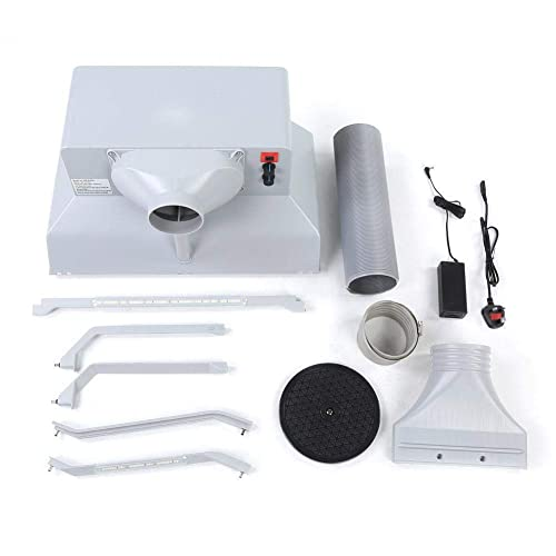 Voilamart Airbrush Spray Booth Kit Portable Spray Booth Filter and Extractor Set with Hose for Artwork Models Crafts