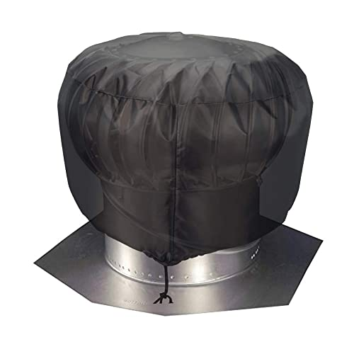 S: 12x17.5 Vent Cover,Turbine Vent Roof Ventilator Cover,Heavy Duty Water Resistant Oxford Roof Vent Dust Cover with Hem Drawstring