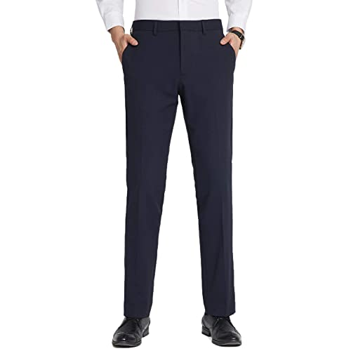 Mens Smart Formal Casual Basic Trousers Work Office W32-50 L27 29 31
