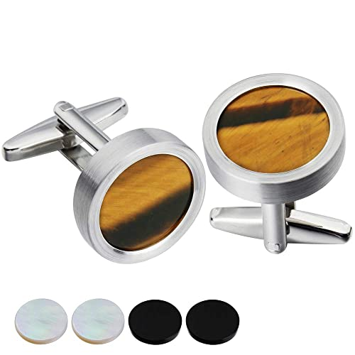 Cuff Links Pack in a Elegant Box HAWSON Removeable Cufflinks with 3 Screwable Cap for Men