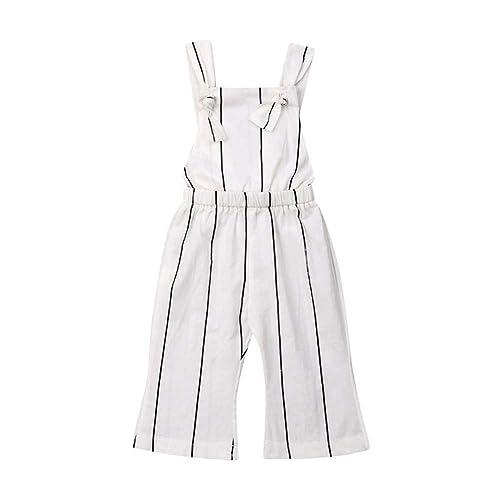 Toddler Kids Little Girls Leaf Wide Leg Pants Jumpsuit Off Shoulder Romper Overall Summer Boho Outfit