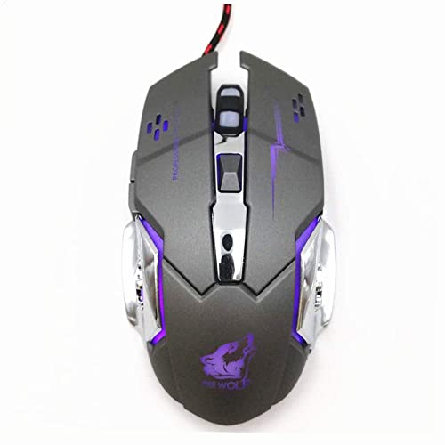 Gaming Mouse Wired 6 Programmable Buttons Backlit Ergonomic RGB Mice USB Wired for Mechanical PC Computer Laptop Desktop Mac Notebook