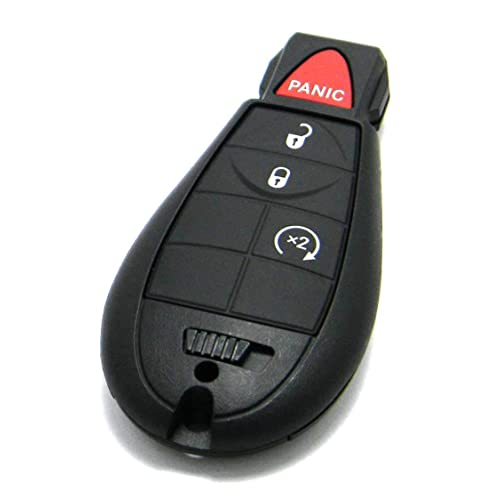 1 New Red Keyless Entry Remote Start Car 5 Button Key Fob M3N5WY783X IYZ-C01C For Jeep Grand Cherokee and Commander