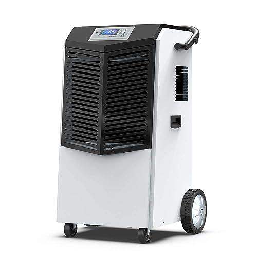 BlueDri BD-BD-75C-BL Commercial Industrial Grade 75 Pint Dehumidifiers for Basements at Homes and Job Sites Blue