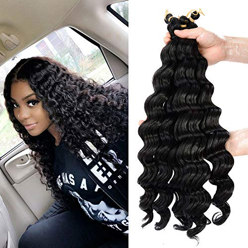 Deep Wave Crochet Hair 6 Pack 20 Inches Light Brown Bohemian Synthetic Short Hair Styles For Women Kanekalon Braiding Hair Extensions 4 Buy Products Online With Ubuy Kuwait In Affordable Prices B07r4hfzg1