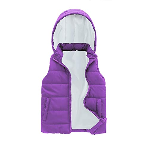 Girls Puffer Vest Sleeveless Jackets Hooded Fall Winter Vests Quilted Coat