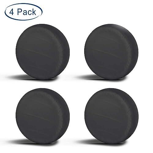 VIEFIN Set of 4 Wheel Tire Covers Fit 24 to 41 Truck Camper Van Auto Car Tires Diameter Waterproof UV Sun RV Trailer Tire Protectors