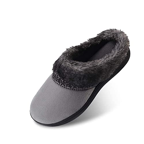 5587240a5 Women's Memory Foam Slippers Non Slip Soft Plush Fleece Lined House Shoes  Indoor/Outdoor