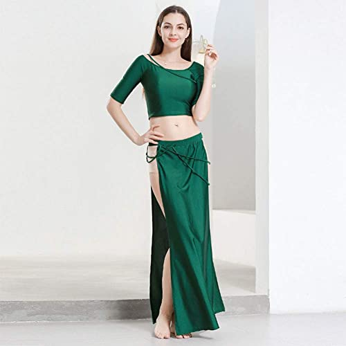 ROYAL SMEELA Dance Costume for Women Belly Dance Skirt Tops Dance Dresses Clothes Crop Tops Long Skirts Set Dance Practice Performance Maxi Skirt Carnival Pub Show Dancing Outfit