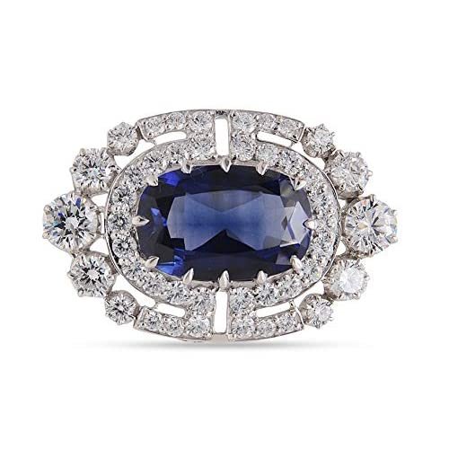 Buy Adastra Jewelry Victorian Style Brooch Pin For Women Men Blue