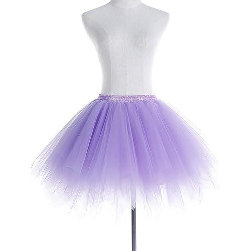 DoGeek Tutu Skirt Layered Dance Performance Skirt for Girls Puffy Tutu Ballet Skirt