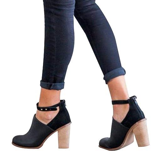 48043eddfd376 Hemlock Women High Heels Boots Wedding Bride Shoes Lady Dress Ankle Booties  Thick Heel Wedges Shoes