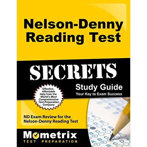 Buy Nelson-Denny Reading Test Secrets Study Guide: ND Exam