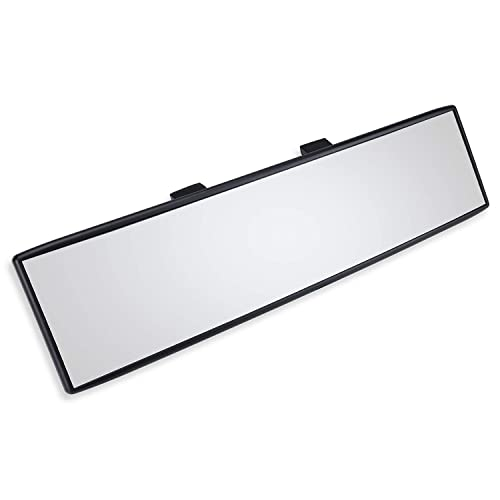 Panoramic /& Wide Angle Clear Tint 12 Inch Interior Clip On Rearview Mirror