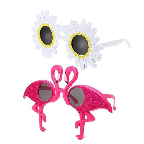 8 Pack Creative Funny Sunglasses Funny Hawaiian Tropical Sunglasses,Luau Fancy Dress Party Supply Funny Sunglasses,Novelty Party Sunglasses Hawaii Themed Sunglasses,Beach Photo Booth Props