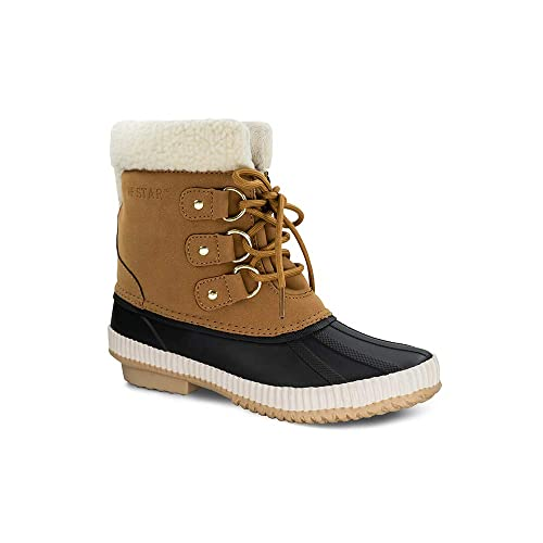 M Fur lined Collar Ankle High Tops Women Waterproof Rain Snow Boots Size 11 B