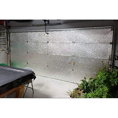 Doe-het-zelf Garagedeuren, openers Supershield 18x7 & 9x7 Foil 2 and 1 Car Garage Door Insulation Foam Core Kit
