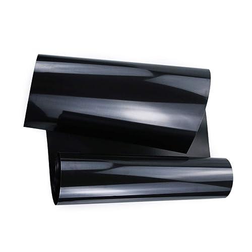 "Black CAREGY Ironon Transfers HTV 12/"" X 15ft Roll On Heat Vinyl"