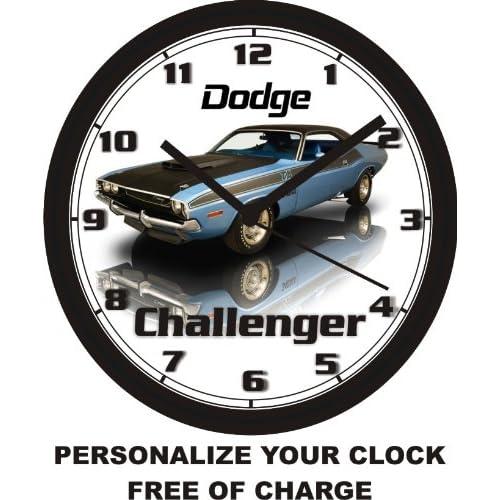 Buy 1970 Dodge Challenger Wall Clock Free Us Ship Online In Kuwait B00jo0g434