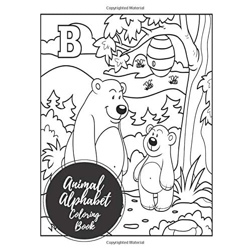 Buy Animal Alphabet Coloring Book Abc Letters Large One Sided Patterns Paperback January 23 2017 Online In Kuwait 1520444974