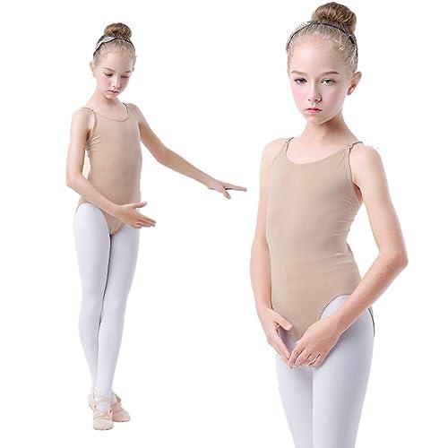 ranrann Girls Slim Fitness Ballet Dance Unitard Double Straps Criss Cross Back Gymnastic Leotard