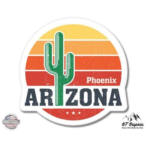 GT Graphics Arizona State Shape Vinyl Sticker Waterproof Decal