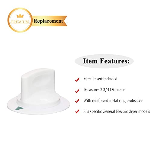 Replacement Dryer Timer Knob for GE 677312 HTDP120ED1WW HTDP120ED6WW