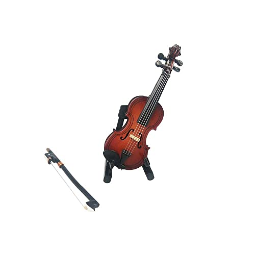 1:12 Dollhouse Miniature Violin Musical Instruments Collection DIY Decor Gift KW