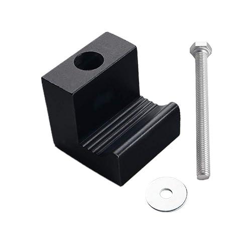4 PCS, Silver DEWHEL Tool Box Tie Downs Aluminum J Hook Crossover Toolbox Pickup Pair