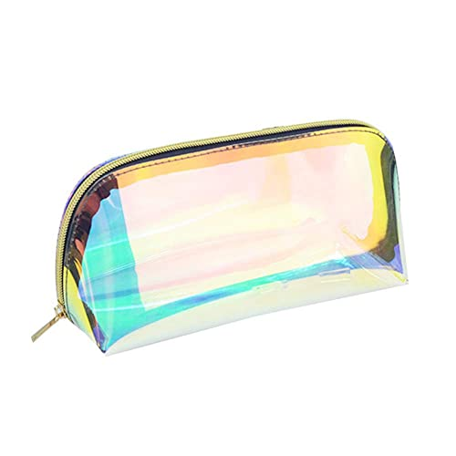 29c06130ec5e Women Girls Clear Transparent Rainbow Laser Hologram Cosmetic Makeup Travel  Wash Bag