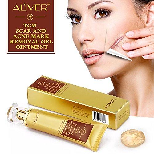 Aliver 2 Pack Acne Scar Removal Cream Skin Repair Cream Scar