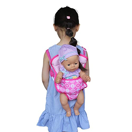 Yuccer Baby Doll Carrier Front and Back Doll Accessories Backpack Storage for ToysToddler Birthday Doll Sling Fox