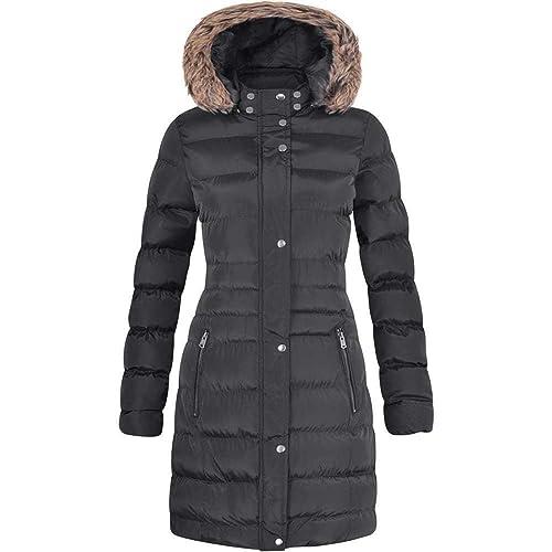 PU Faux Leather Shiny Puffer Bubble Jacket Festiday Womens Fashion Top Jacket Coat Parka High Waist Slim Hooded Coat