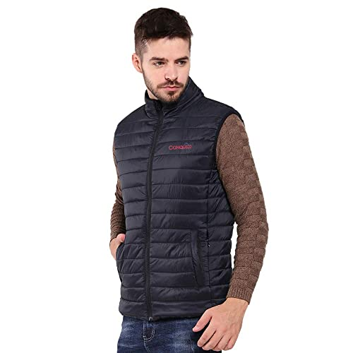 CONQUECO Mens Heated Vest Lightweight Electric Gilet Jacket with Battery Pack for Outdoors