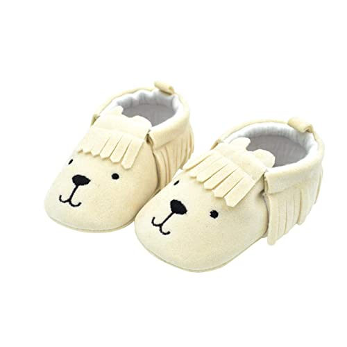 DEBAIJIA Soft Leather Baby Boys Girls Shoes Suede Leather Toddlers Shoes Anti-Slip Fashion Casual Prewalker Shoe Suitable for 6-36 Months Infant Toddler Slip-on Lace-up Booties