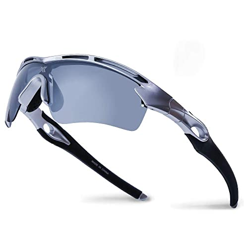 ZEAKER Polarized Sport Sunglasses for Men and Women,Ideal for Driving Fishing Cycling and Running,UV Protection