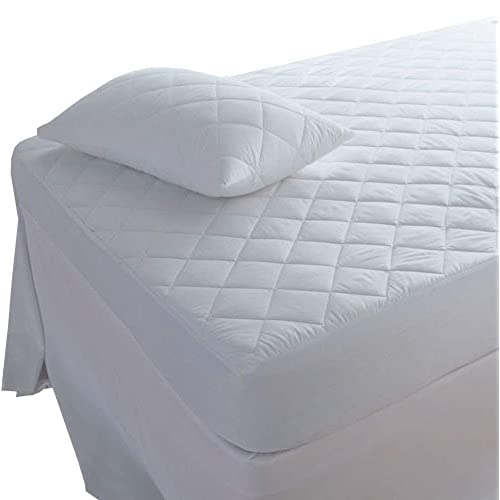 "LUXURY QUILTED MATTRESS PROTECTOR 12/"" FITTED BED COVER SMALL DOUBLE SUPER KING"