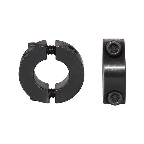 """1-3//4/"""" Bore Double Split Shaft Collar Black Oxide Set Screw Style 2 PCS"""
