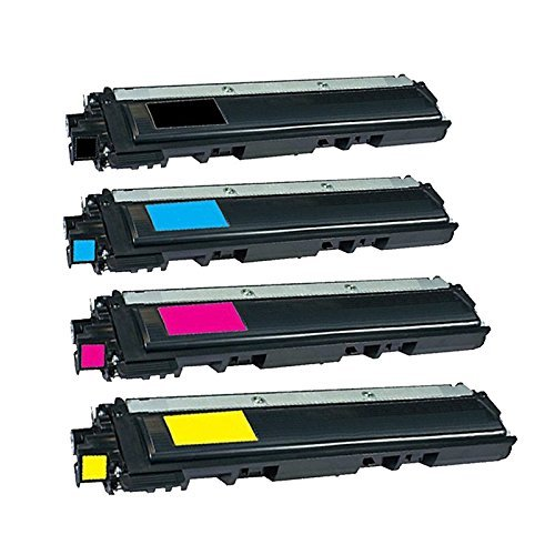 HQ Supplies Brother TN-210 Toner Cartridge Set Brother TN210 Black, Cyan, Yellow, Magenta Professionally Remanufactured for Brother HL-3040CN HL-3045CN Brother TN-210Y Brother TN-210C Brother TN-210M HL-3070CW MFC-9010C HL-3075CW Brother TN-210BK