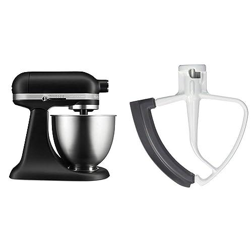 Buy Kitchenaid Artisan Mini Stand Mixer 3 5 Quart Matte Black With Flex Edge Beater Online In Kuwait B07kktxrx3