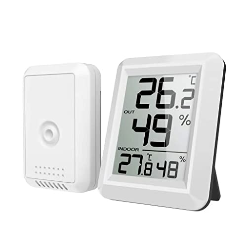 Details about  /Digital Weather Station Thermometer Hygrometer Indoor Temperature Humidity Clock